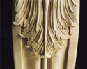 Acantaus Carving on Mantle Pilaster