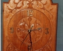 mahogany-wall-clock