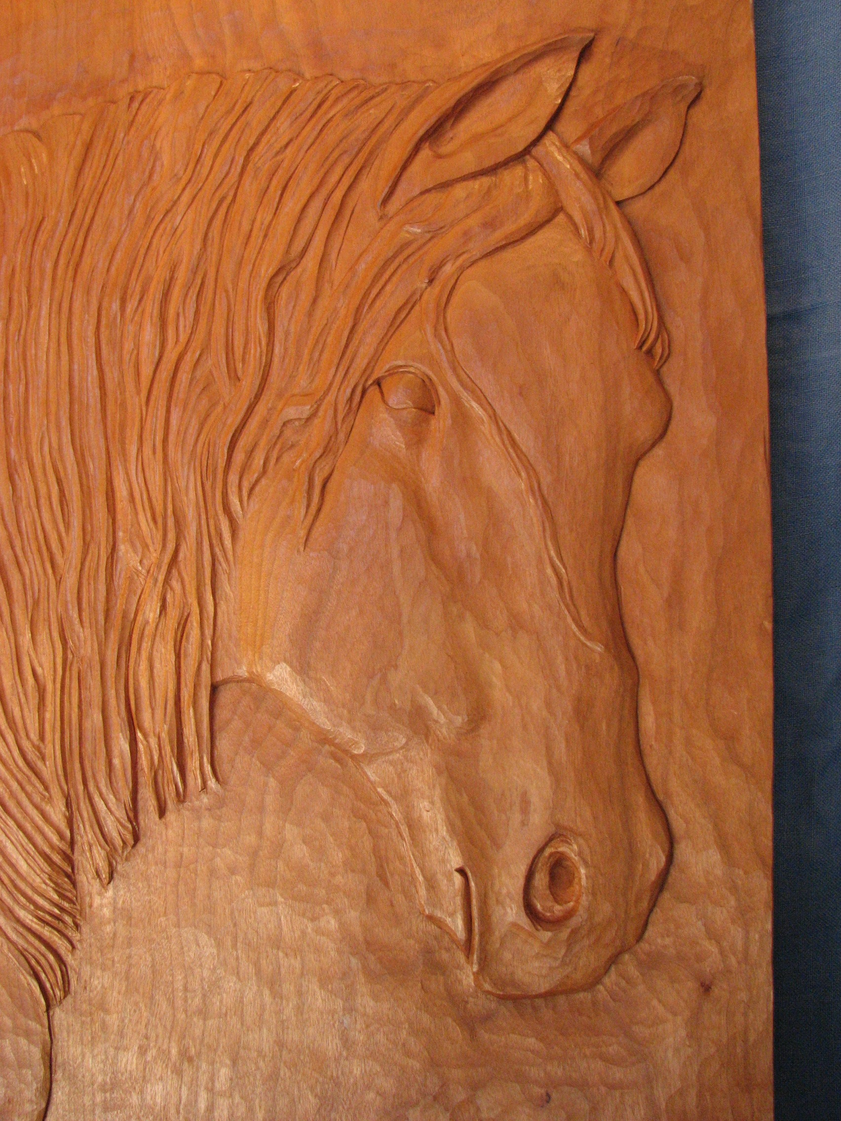 Horse relief carving dave ganley woodworking indian