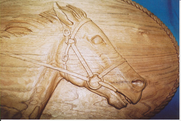Horses in relief paul rolfe woodcarving