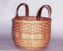 Basket with Leather Handles - 2005